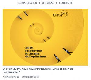 Newsletter # 19 | Dec. 2018 -Et si nous nous retrouvions sur le chemin de l'optimisme ?